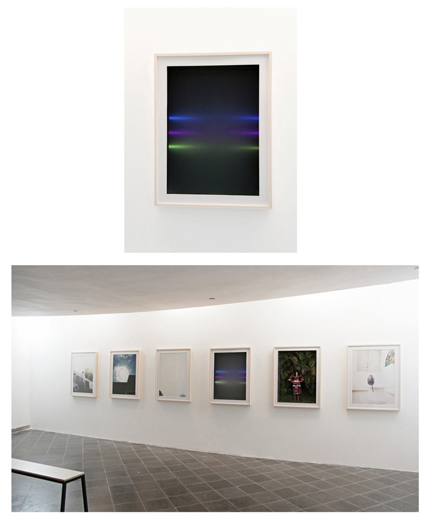 CMYK, 2012, water tank, water, 6 led light bulbs, 3 color filters and wooden frame, 110x90x30cm